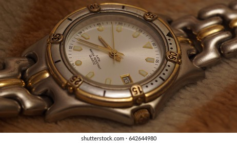 The worn wrist watch