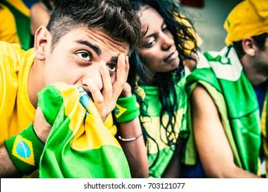 Worried Brazilian Fans, Soccer Championship