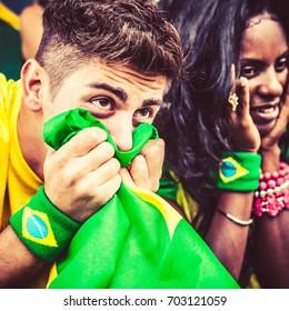 Worried Brazilian Supporters