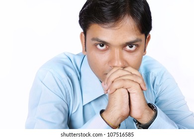 Worried Indian Businessman