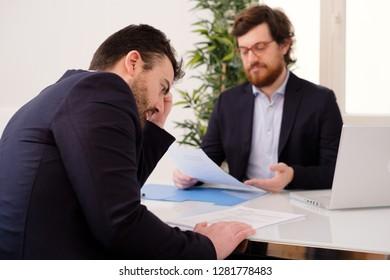 Worried job candidate waiting hiring decision