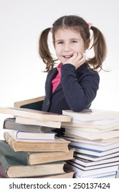 worried little student
