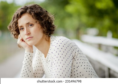 Worried Woman Waiting