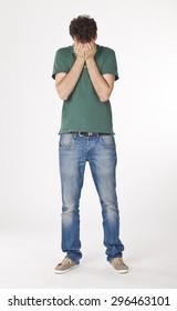 Worried Young Man Portrait. - Shutterstock ID 296463101