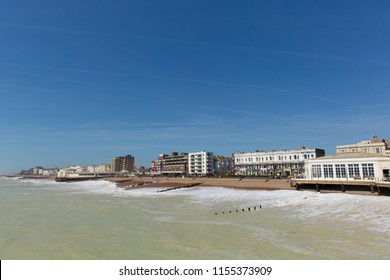 Worthing seafront England UK south coast town in West Sussex