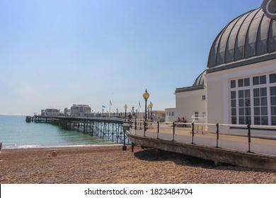 Worthing / UK - 14 September 2020: Worthing Pier, West Sussex, England