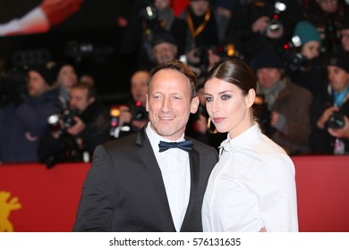 Wotan Wilke Moehring and partner Cosima Lohse pose on the red carpet during opening ceremony of the 67th Berlinale  Film Festival at Grand Hyatt Hotel in Berlin, Germany on February 9, 2017.