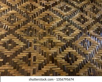 Woven bamboo (Anyaman Bambu). Bamboo art.