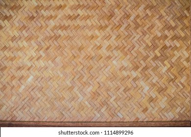 Woven bamboo pattern for background. Handicraft bamboo wood weave texture. Old bamboo weaving pattern texture for background and design art work.