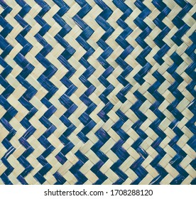 Woven bicolour  bamboo texture for background and Design.