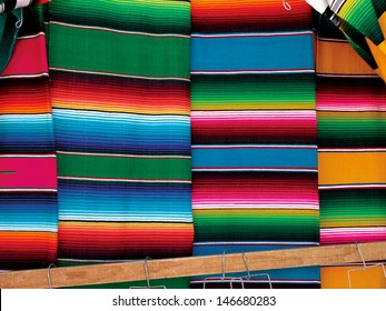 Woven colorful sarapes