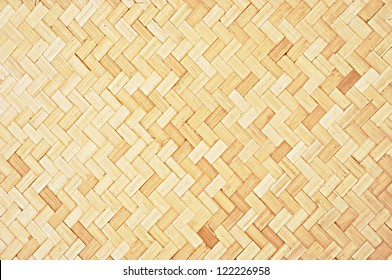 Woven wood pattern background