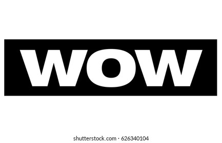 WOW text rubber seal stamp watermark. Caption inside rounded rectangle banner on a white background.