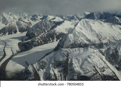 Wrangell-St.Elias NP,photographed from the plane, Alaska, USA, UNESCO World Heritage Site