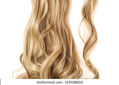 wrap round clip in wavy brown mixed blonde highlights synthetic ponytail hair extension