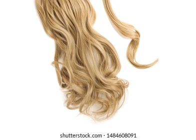 wrap round clip in wavy  honey blonde synthetic ponytail hair extension