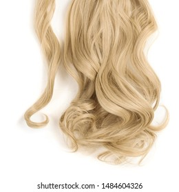 wrap round clip in wavy sandy blonde synthetic ponytail hair extension
