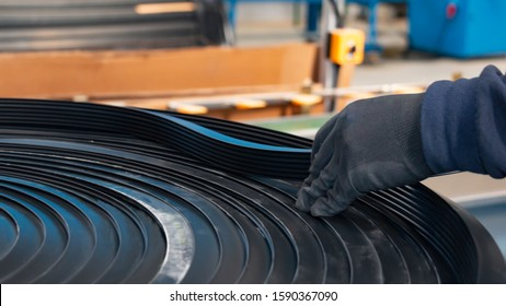 wrapped rubber profile being checked on Foreman's side