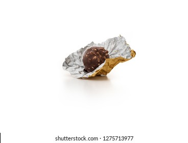 wrappers chocolate on isolated white background