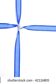 A wrapping blue ribbon