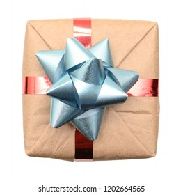 A wrapping gift with top view