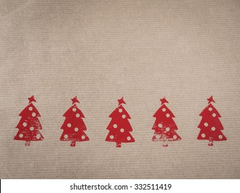 Wrapping paper with motive, red, stamped