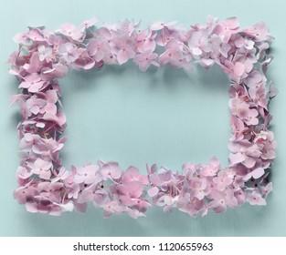 Wreath made of hydrangea flower