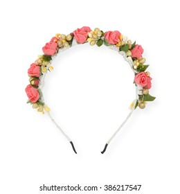 wreath on head  isolated