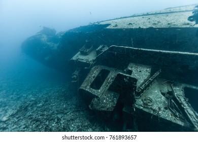 Wreck of a minesweeper, Hurghada, Egypt