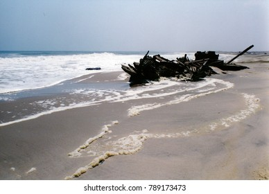 Wreck on skeleton coast
