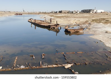 Wrecks of old abanadoned ships, Aral Sea