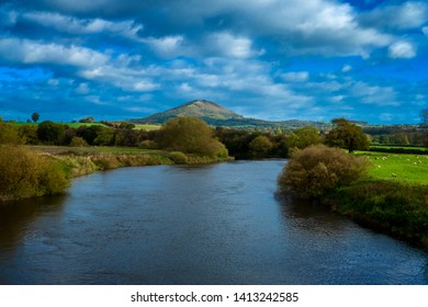 The Wrekin Hill from the Cressage bridge in Shropshire