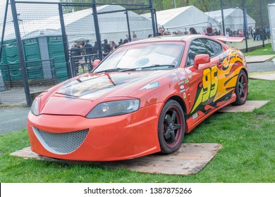 Wrexham, Wales - April 28th, 2019: Wales Comic Con - Cars Lightning McQueen