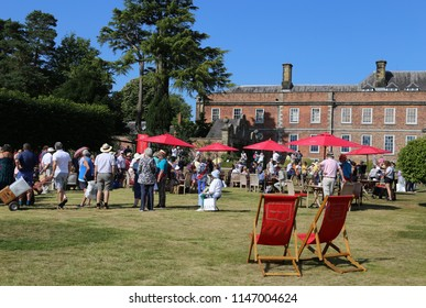 Wrexham, Wales, UK.  July  26  2018. People enjoying a sunny day out at the filming of the BBC One 'Antiques Roadshow'.