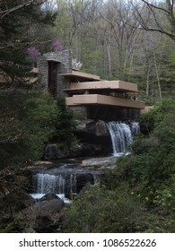 Wright's fallingwater house front view