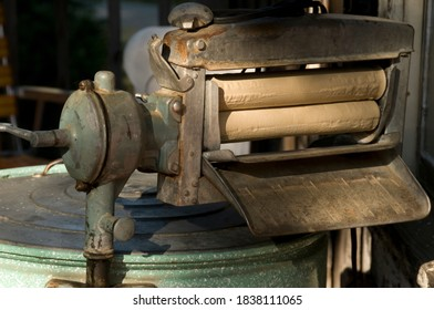Wringer washing machine.  Very old but still usable.