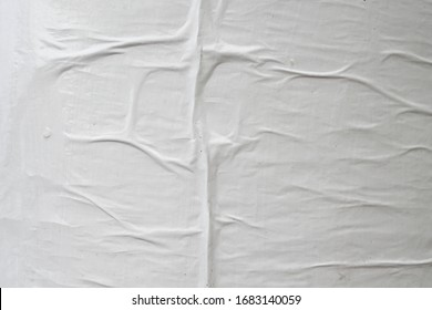 wrinkled abstract creased worn weathered exposed white empty clear street poster paper texture