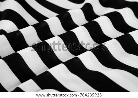 Wrinkled Black White Striped Fabric Stock Photo Edit Now 784235923