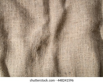 Wrinkled Sackcloth background texture.