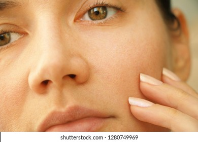 wrinkles and pores on the face