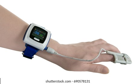 Wrist Pulse Oximeter on hand