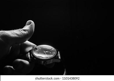 wrist watch in hand