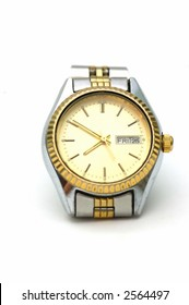 Wrist watch isolated against a white background