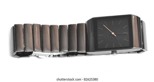 wrist watch on a white background