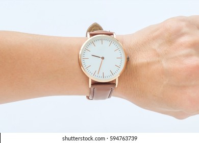 wrist watch and rose gold watch