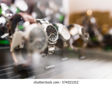 Wrist Watches in a luxury store