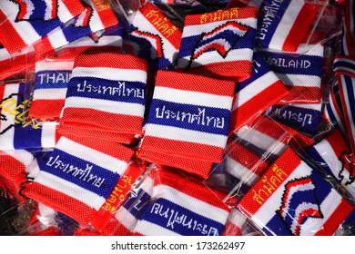 wristband in thai flag pattern