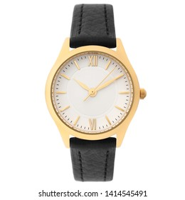 Wristwatch isolated on white background