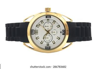 wristwatch on white background