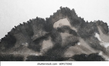 Write with a brush, handwriting, on a white background